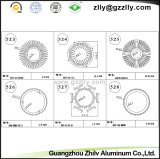 L'alluminio si è sporto dissipatore di calore di Rotondo-Figura di profili