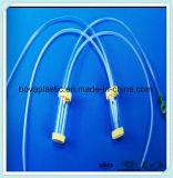Catéter médico de la succión del PVC de Resistand del rizo transparente con la ISO