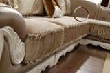 居間の革およびファブリック角のソファーY1503