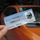 Tag frágil da etiqueta do pára-brisa do veículo da freqüência ultraelevada do sistema RFID do estacionamento