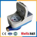 Tipo vertical leitura de medidores pagada antecipadamente indicador da água do LCD