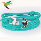 Bracelet de corde de parapluie d'attache d'acier inoxydable de la mode Stlb-17011003