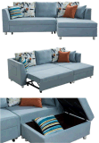 L'insieme sezionale del sofà del tessuto con estrae la base