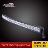 288W 50inch barra chiara chiara curva doppia riga del CREE LED