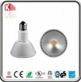 エネルギー星の黒PAR30 LEDの点ETL Dimmableの穂軸PAR30 LEDの球根ライト15W