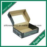 Flat Pack caja de embalaje de cartón ondulado con ventana PVC transparente