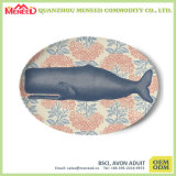Plaat van het Diner van de Melamine van het Af:drukken van het Ontwerp van de douane de Volledige Plastic