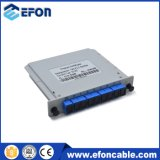1: 8 Mini Plug-in/Casete Lgx Box PLC Splitter de fibra óptica SC/APC Splitter