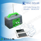 10W portátil de ahorro de energía Solar Kit Home Lighting System