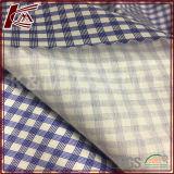 Motif de vérification de la soie coton élastique Blended tissu satiné