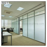Clear Acid Etched Tempered Knell for Partition