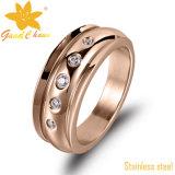 Exsr53b Moderne de Manier nam Van uitstekende kwaliteit de Gouden Ring van het Roestvrij staal toe