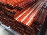 Perfil de alumínio da cor de madeira do ganho para portas e Windows