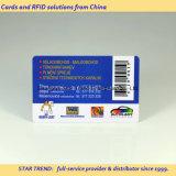 Cartões de PVC pré-impressos com código de barras / número da série / código Qr