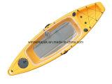 Individual Kayak Fondo de Pesca transparente con Motor