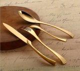 Ложка вилки ножа обеда золота нержавеющей стали