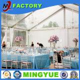Fabricante de aluminio industrial para la tienda al aire libre de la boda del jardín grande transparente de la tela del PVC de la venta