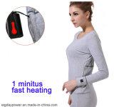 Fibre électrique sèche de carbone de vêtement de chauffage chauffant les sous-vêtements heated de procès anti-froid chaud de vêtement