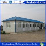 Casa prefabricada de la casa prefabricada modular respetuosa del medio ambiente del edificio del material de construcción ligero de la estructura de acero