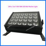 Discoteca 24 equipos de luz LED DMX 512 Arandela etapa