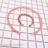 2017 pulseras cristalinas del pun ¢ o del polvo de los brazaletes del abrigo del cristal de la marca de fábrica para la joyería de la manera de las mujeres (solo pulsera TB-004)