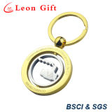 Hochwertiges herausgeschnittenes Entwurfs-Gold/Silber drehbares Keychain