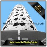 アルミニウム壁の正面のクラッディングのための装飾的な穴があいたアルミニウムパネル