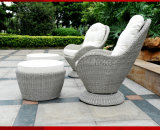 Sofà esterno del giardino di svago del singolo del sofà di svago sofà del rattan (S102)