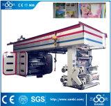6 Farben-zentrale Hochgeschwindigkeitstrommel-flexographische Drucken-Maschine