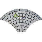 De natuurlijke G654 Graniet Ingeschakelde Steen 10X10X5 van de Kubus van de Straatsteen Zwarte voor Oprijlaan