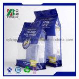 Quadratischer flache Unterseiten-Plastiknahrung- für Haustierebeutel mit Reißverschluss