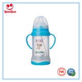 Os frascos de bebê de vidro Unbreakable com Anti-Caem plataforma dobro