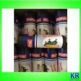 Black HDPE Sacs à ordures Sacs à ordures Onroll avec étiquette