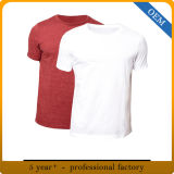 T-shirt rond de blanc de blanc du collet des hommes faits sur commande