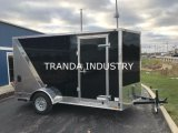 Nouveau 2017 8.5X24 8.5 X 24 V-Nosed Enclosed Bike ATV Cargo Car Toy Hauler Trailer