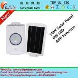 интегрированный солнечный уличный свет 10W с APP