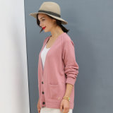 Cardigan der Dame 100% Kaschmir-Strickjacke, Winter-Kleidungs-Mantel