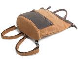 카키색 색깔 방수 화포는 밀초를 발랐다 가죽 핸드백 여행 휴대용 퍼스널 컴퓨터 책가방 (RS82051K)를