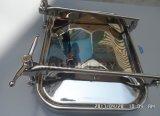 Edelstahl-quadratisches Einsteigeloch mit doppeltem Verschluss (ACE-RK-15D)