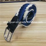 Conception simple lumière bleu et blanc de boucle de ceinture tressée