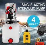 12V 3 pinte voiture hydraulique de relevage de l'unité d'alimentation de la pompe en plastique seul agissant pour le bennage de la remorque