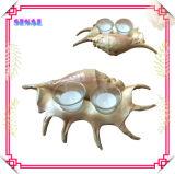 Coquille de mer de résine de décoration, bougeoir de souvenirs décoratifs