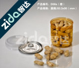 Transparent Nut Can Round Candy Plastic Pet Easy Open Can