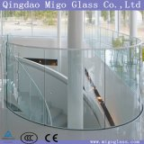 8мм, 10 мм 12 мм 15 мм 19мм полированный ясно изогнутый поручень из закаленного стекла