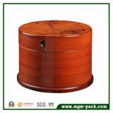 Exclusiva Caja de almacenamiento de la Ronda de joyas de madera con cajones