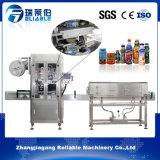 Автоматическая машина для прикрепления этикеток втулки Shrink PVC для квадратных плоских бутылок