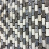 中国語は灰色および水晶白い大理石の石、煉瓦モザイクを編む
