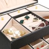 大きいロックできる宝石類のオルガナイザーボックス記憶のケース