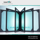 Het VacuümdieVenster van Landvac en in Bouw wordt gebruikt en het Onroerende goederen Glas van de Deur