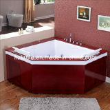 Vasca da bagno di massaggio con il pannello esterno di legno (TLP-667-Wood)